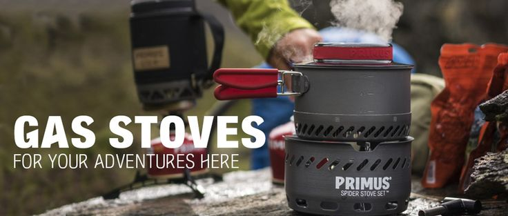 Gas stoves are great for trekking and hiking. We have different sizes to choose from to fit your backpack.