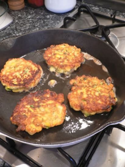 Very South African indeed! Sweetcorn, cheese and spring onion fritters.