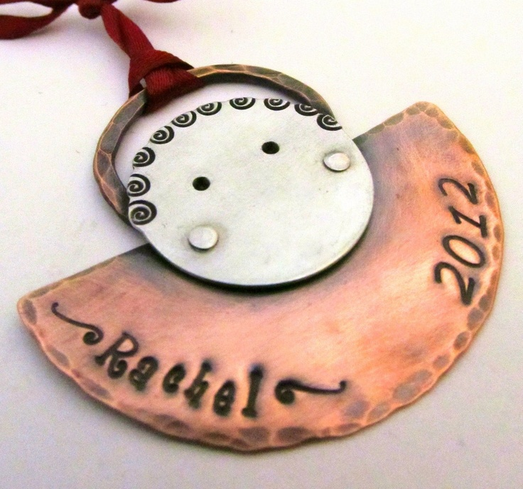 Personalized Christmas Ornament - Hand Stamped Custom ...