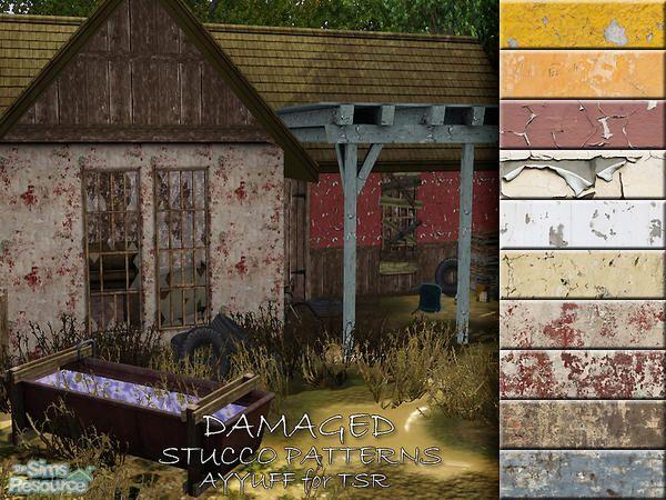 ayyuff's Damaged Stucco Patterns