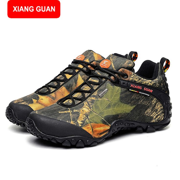 XIANG GUAN Men Hiking Shoes Outdoor Climbing Boots Waterproof Mountain Sport Trekking Tourism Boots Botas Waterproof 81289