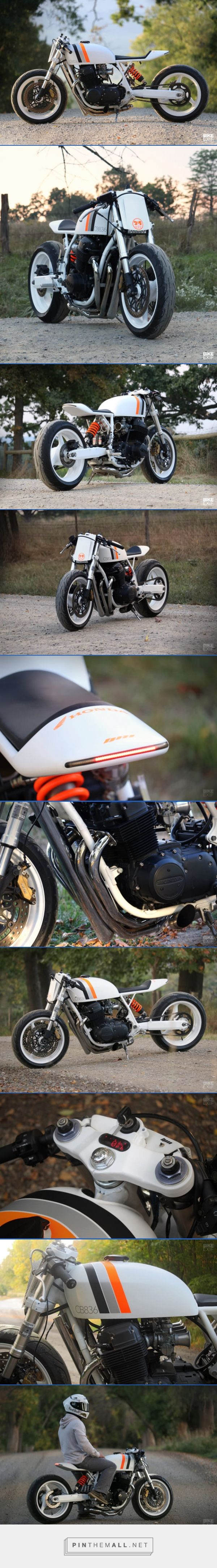 White Hot: A cafe racer CB750 from New York | Bike EXIF - created via https://pinthemall.net