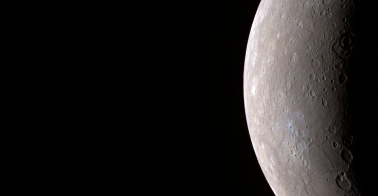 Mercury's eccentric orbit takes the small planet as close as 47 million km (29 million miles) and as far as 70 million km (43 million miles) from the sun. If one could stand on the scorching surface of Mercury when it is at its closest point to the sun, the sun would appear more than three times as large as it does when viewed from Earth.