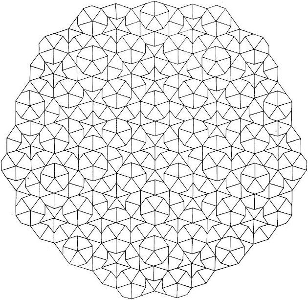 Geometric 6 Coloring Page Coloring