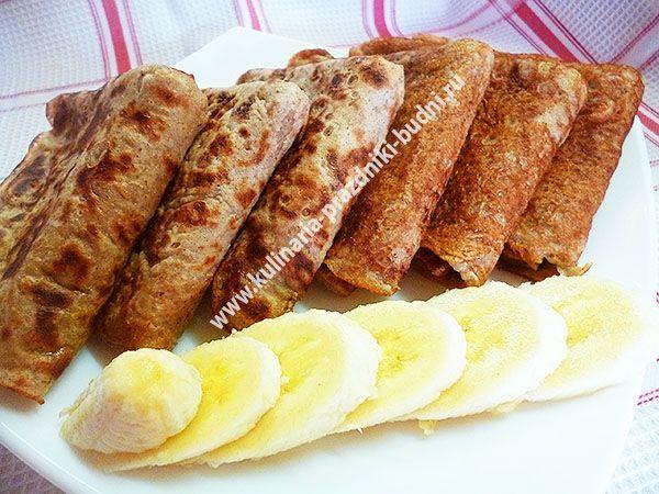 Банановые блинчики без яиц