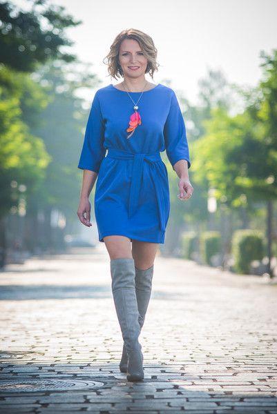 Sukienka dzienna chabrowa Jane JORDJA - jordja - Sukienki midi