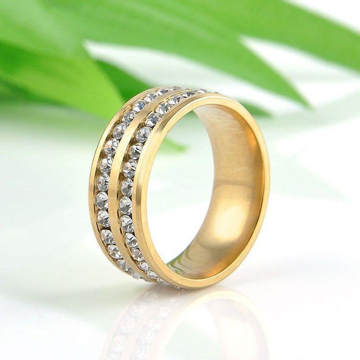 Band Rings For Women Titanium Multicolor