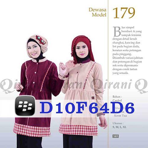 Blus Qirani Dewasa Model 179 Hubungi 085732697004