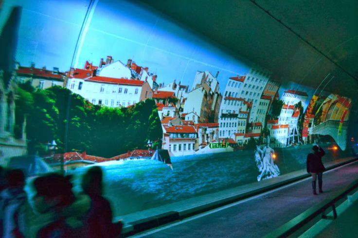 tunnel de la croix-rousse | anamorphose tunnel de la croix rousse 4ème arrondissement