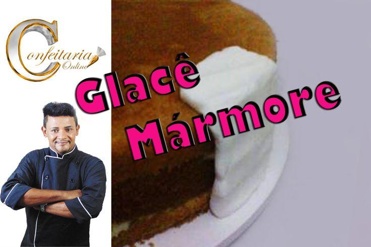 Cobertura para bolos de Glacê Mármore profissional que não racha
