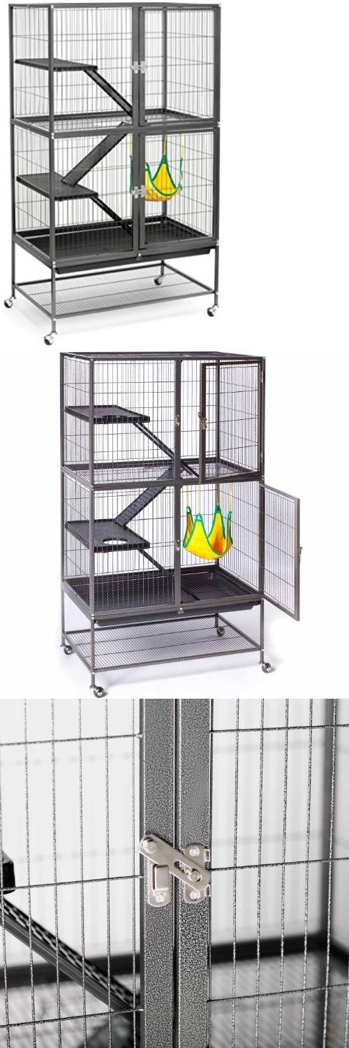 Cages and Enclosure 63108: X Large Ferret Cage Sugar Gliders Chinchillas Small Monkey Breeds Double 2 Story BUY IT NOW ONLY: $164.95