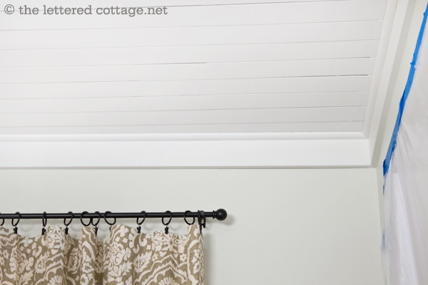 Use 1″ x 4″ MDF boards and some 3/4″ round wood molding instead of traditional crown molding ... much, much cheaper!