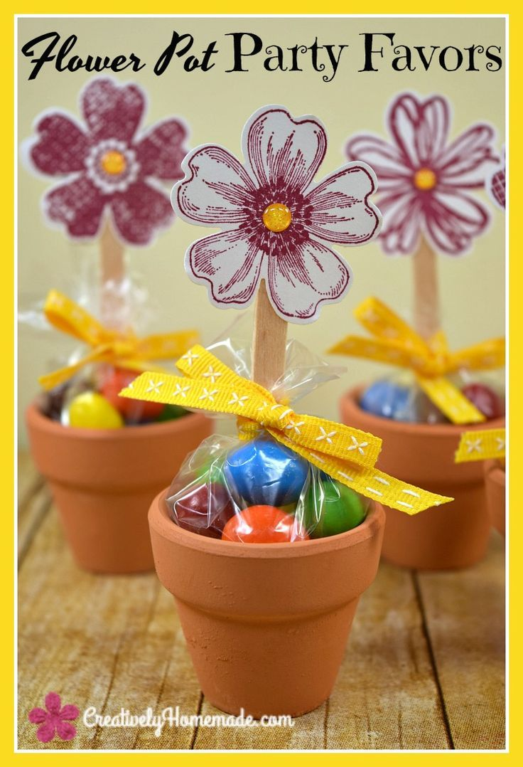 272 & These adorable mini flower pot favors are simple to make and sure to ...