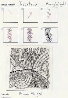 Zentangle patterns: Heartrope by Bunny Wright
