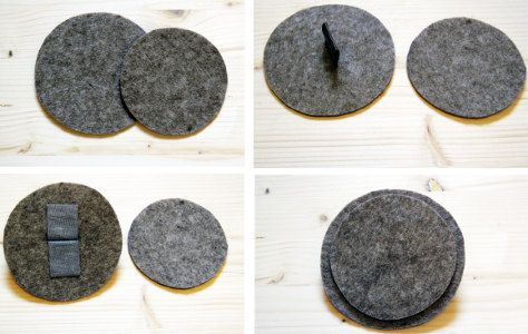 Schritt 6: Nun muss man noch den Deckel herstellen. Dafür aus Filz einen Kreis in der Größe des Bodens ausschneiden und einen mit einem etwa 1 cm kleineren Durchmesser. In den größeren Kreis einen Schlitz schneiden und den Kunstlederstreifen doppelt gefaltet hindurchziehen. Auf der Unterseite die Enden festkleben. Dann den kleineren Kreis auf die Unterseite des größeren kleben. Die komplette Anleitung finden Sie hier http://www.immonet.de/service/filzbox-basteln.html