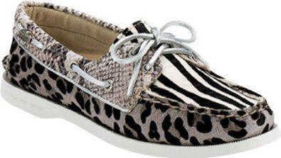 b0e60e06f46 Sperry Women s A O 2 Eye Shoes Black White Multi Animal on Sale