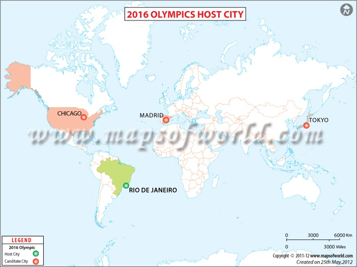 2016 Olympic Host City Map