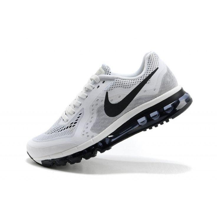 Demping Hardloopschoenen Nike Air Max 2014 Heren Wit Zwart,HOT SALE!