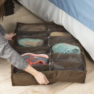 Under Bed Storage  The space beneath your bed isn't for monsters and dust bunnies, it's for storing seasonal clothing, bedding, and shoes. However, if you don't exercise some control, this space can easily get out of hand. Use flat storage bins and vacuum storage bags to make the most of the dead space under your bed.