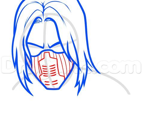 How to Draw The Winter Soldier, Step by Step, Marvel Characters, Draw Marvel Comics, Comics, FREE Online Drawing Tutorial, Added by Dawn, August 16, 2014, 12:01:32 pm