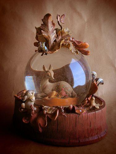 Bambi Snowglobe designed by Jody Daily