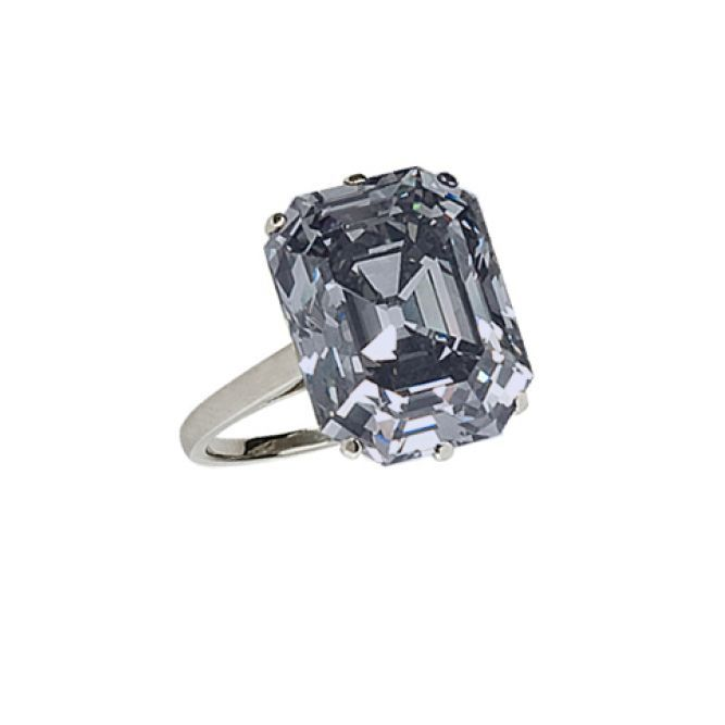 Stephen Russell art deco fancy gray diamond ring, price upon requestFor information: stephenrussell.com - Photo: Courtesy of Stephen Russell