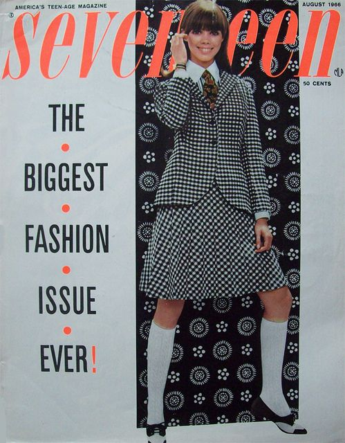 Seventeen magazine august 1966 by Simons retro; I loved this cover!  I kept it for years...may still be somewhere in a box :)