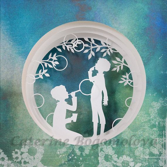 Bubbles. Original  papercut by Catherine Bogomolova