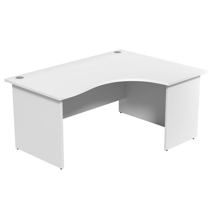 white corner office desk. Unite White Corner Desk | NEXT DAY DELIVERY Available As Either Left Or Right- Office