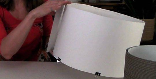 How To Make a DIY Drum Shade | Apartment Therapy-- could use this to make lamp shades too!