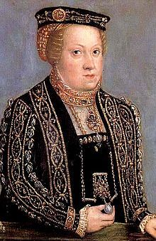 Catherine of Austria (1533 - 1572). Queen of Poland from 1553 until her death in 1572. She was the third wife of Sigismund II. She miscarried in 1554 and her husband decided the marriage was cursed and tried to have it annulled. In 1566 she left Poland for Linz, where she stayed until she died.