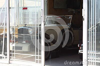 A rarity car is parked in the pavilion. Larnaca, Cyprus