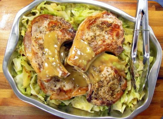 Pressure Cooker: Pork Chops and Cabbage