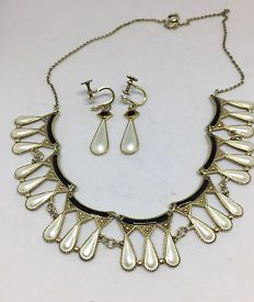 Necklace and matching earrings by Arne Nordlie