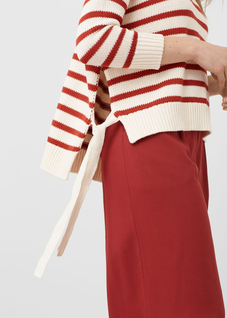 サイドスリット入りのコットン混セーター | MANGO マンゴ