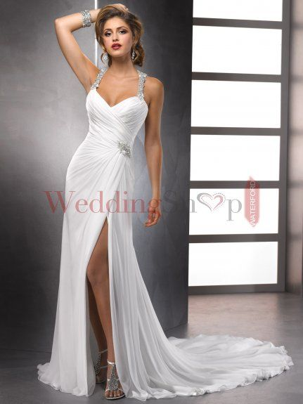 Glamorous High Split Chiffon Couture Wedding Dress with Beaded Halter - $234.59 : Cheap Evening Dresses,Cheap Wedding Dresses Waterford,Cheap Bridal Gowns Waterford,Cheap Wedding Shop Waterford,Cheap Formal Dresses Online Shopping Waterford, Wholesale Cheap Wedding Dresses Waterford,Cheap Wedding Dresses Waterford,Discount Wedding Dresses Waterford,Cheap Wedding Dresses Online Waterford