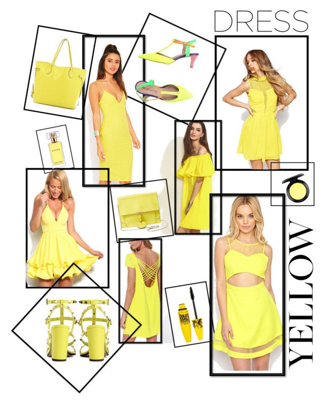 """YELLOW"" by kleefashion on Polyvore featuring Liquorish, Tipe e Tacchi, Valentino, Jason Wu, Louis Vuitton, MAC Cosmetics, Estée Lauder and Maybelline"