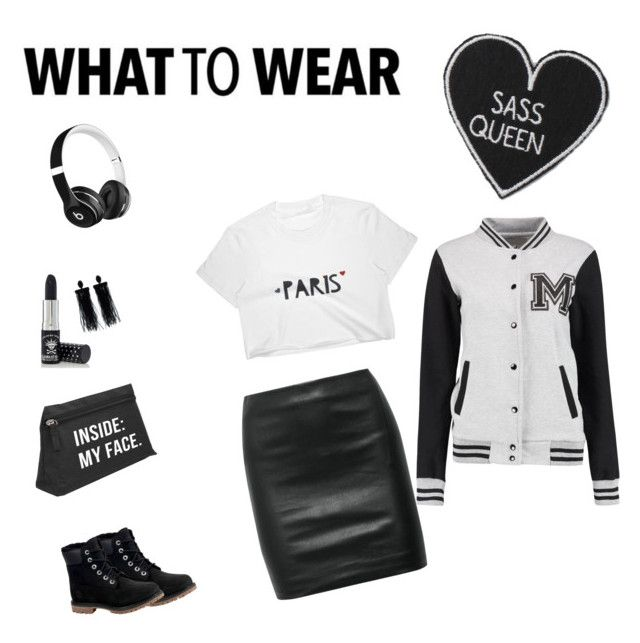 """ass queen"" by saraisyi on Polyvore featuring The Row, Timberland, Beats by Dr. Dre, Oscar de la Renta and Manic Panic NYC"