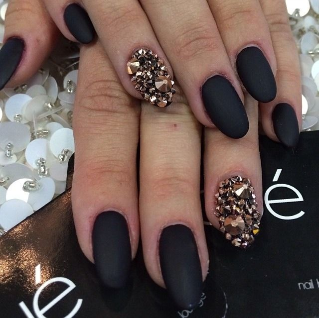 Rose Gold Studs Mixed With Matte Black