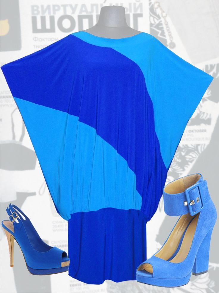30$ Платье свободного покроя для полных женщин из двух цветов синего и голубого Артикул 621, р50-64 Платья больших размеров  Платья в пол больших размеров  Летние платья больших размеров Платья макси больших размеров  Трикотажные платья больших размеров  Длинные платья больших размеров  Платья нарядные больших размеров  Дизайнерские платья больших размеров Красивые платья больших размеров  Модные платья больших размеров  Стильные платья больших размеров