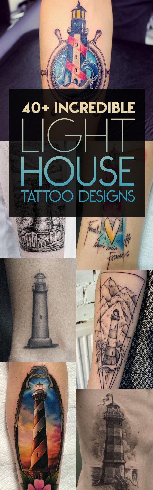 40+ Incredible Lighthouse Tattoo Designs   TattooBlend