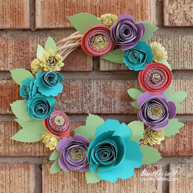 Scrapbooking Paper Crafts Cricut 3d Floral Home Decor Cartridge Centerpiece Bouquet Wreath Garland New Crafts Marketplatforms Com