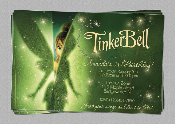 The 25 best Tinkerbell fairies ideas – Tinkerbell Party Invitation Ideas