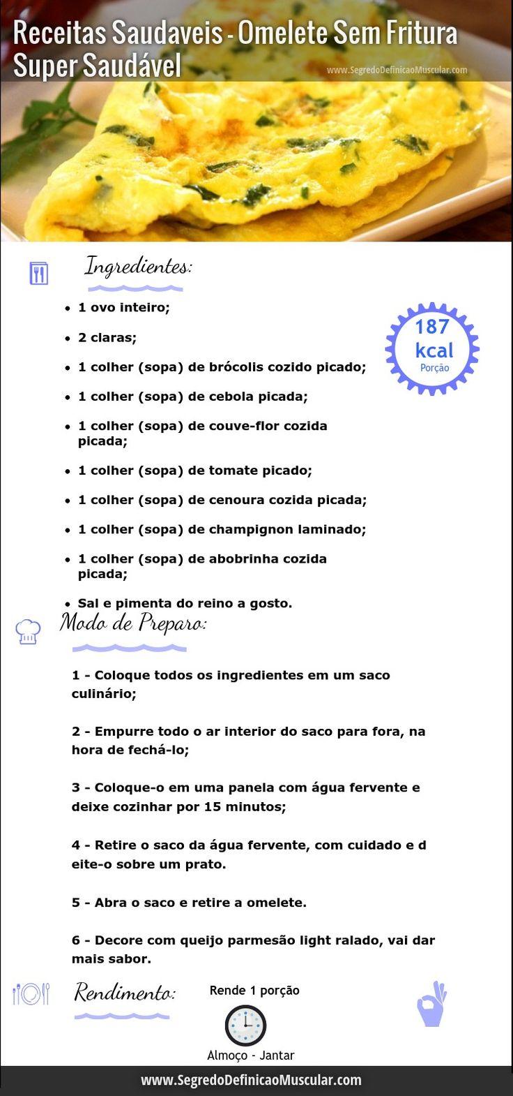 receita de omelete sem fritura ➡ http://www.SegredoDefinicaoMuscular.com/receitas-saudaveis-omelete-sem-fritura-super-saudavel  #receita #recipe