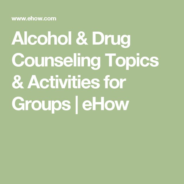 drug and alcohol recovery group topics