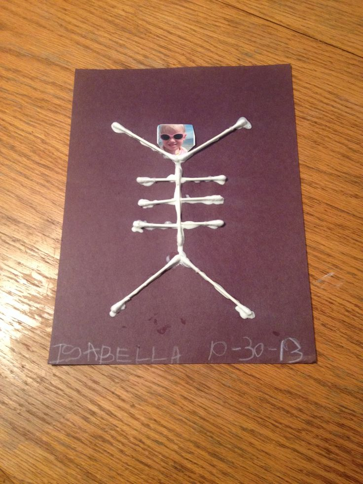 another version of the q tip skeleton just add a photo find this pin and more on jens halloween toddler art - Halloween Toddler Art Projects