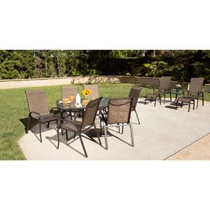 Steel Sling 12-Piece Patio Dining Set & Leisure Set Value Bundle, Seats 8: Patio Furniture, Steel Sling, Leisure Set, Sling 12 Piece, Patio Dining, Table, Dining Sets, 12 Piece Patio