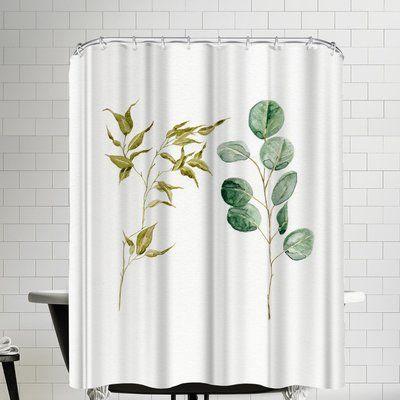 East Urban Home Two Eucalyptus Single Shower Curtain Curtains