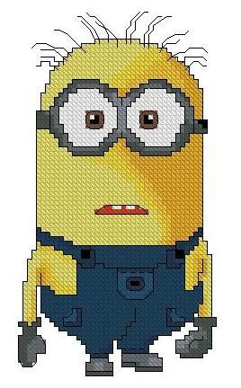 Minion rushCross stitch pattern pdf format by sunshinehomedecor, $3.50