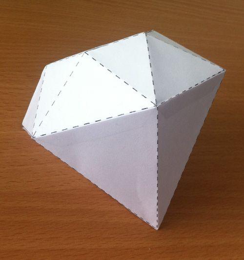 diamant vouwen van papier / paper diamond                                                                                                                                                                                 Mehr